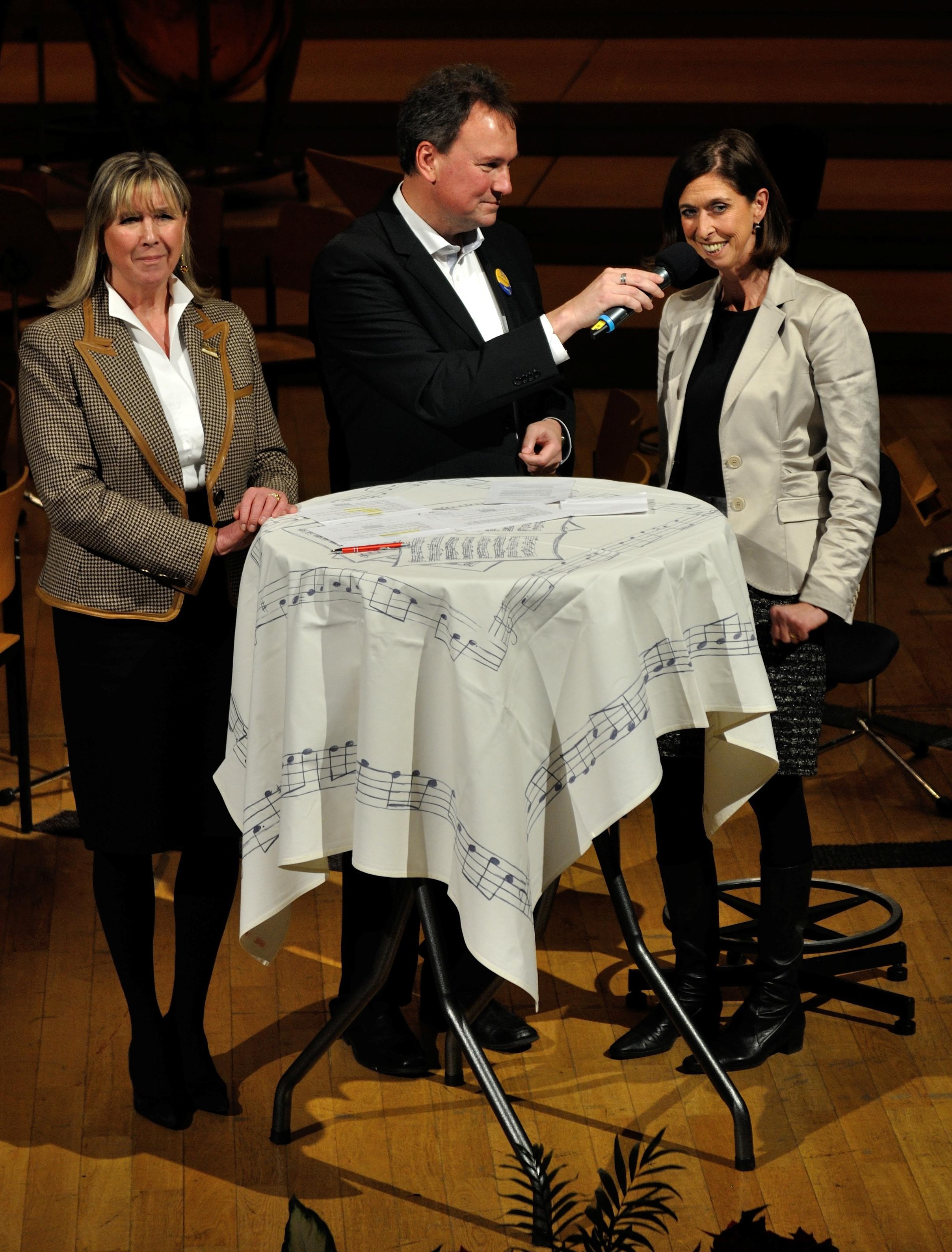 Lydie Polfer, Camille Ney et Lydia Mutsch